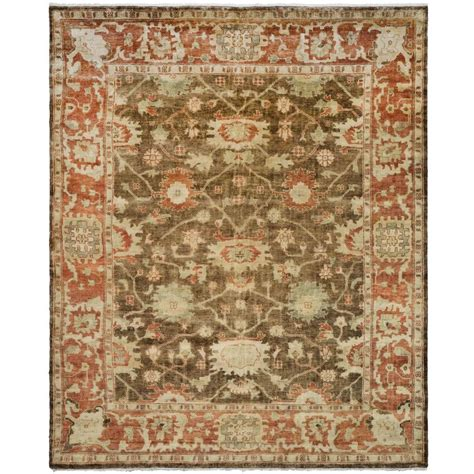 Rugs 6 Ft by Safavieh Oushak Brown Rust 6 Ft X 9 Ft Area Rug Osh115a