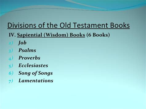 old testament sections b i b s t u d lesson 04 old testament books divisions copy