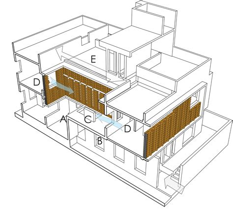 Lateral Section by Gallery Of Lateral House Gaurav Roy Choudhury 21