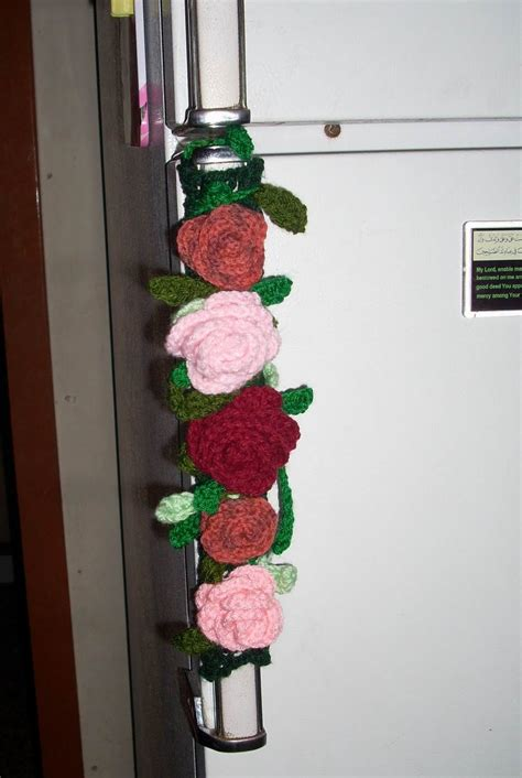 crochet refrigerator handle cover httplometscom