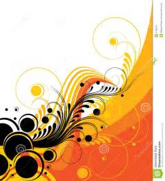 Vivid retro abstract design in assorted patterns and shapes of orange