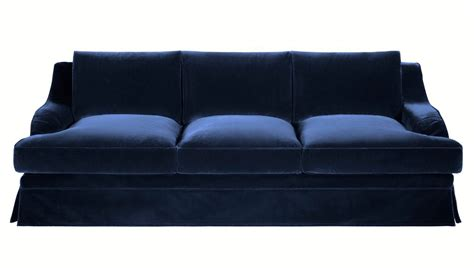 brocante large beautiful navy blue velvet sofa