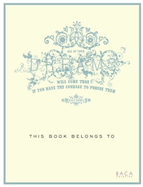 bookplate template free book plate templates