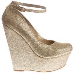 gold wedges shoes onlineshoe gold glitter wedge platform shoes ankle
