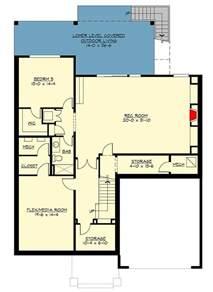 tri level home plans designs modern prairie house plan with tri level living 23694jd