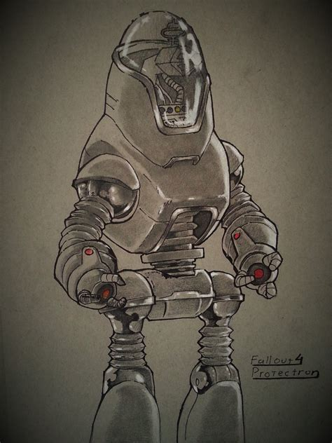 Fallout 4 Sketches by Fallout 4 Protectron By Alphalifeform On Deviantart