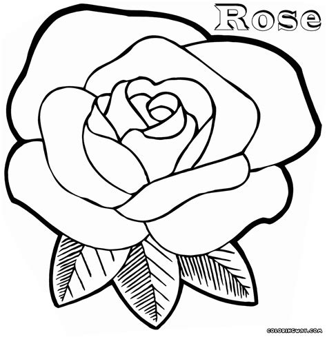 coloring sheet of rose rose coloring pages coloring pages to download and print