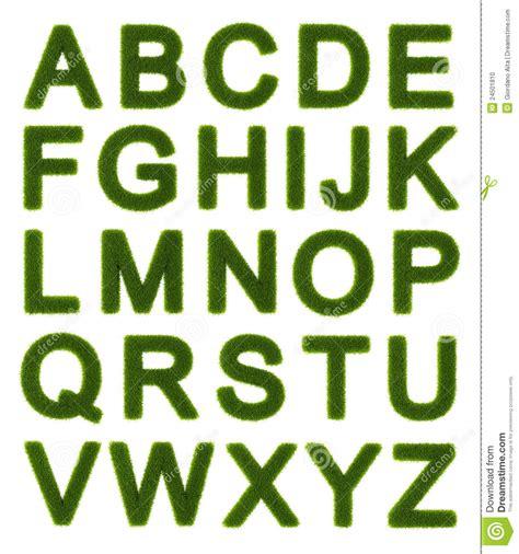lettere maiuscole alfabeto verde lettere maiuscole fotografia stock