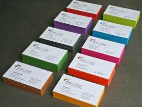 colors for business cards business cards with coloured edges evolve already