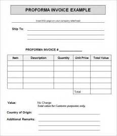 Proforma Invoice Template India Search Results For Sample Proforma Invoice For Export