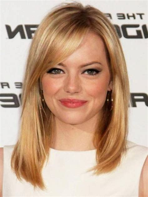 medium haircuts 2018 with bangs medium length hairstyles with side bangs 2018 hairstyles