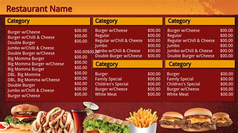 Fast Food Menu Template by Fast Food Menu Design Templates Www Imgkid The