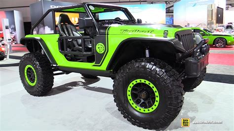 jeep wrangler hellcat 2017 jeep wrangler trailcat 707hp hellcat mopar customized