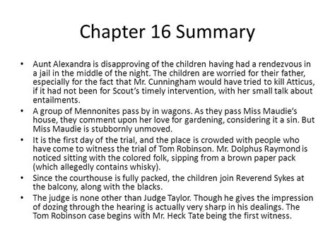themes in to kill a mockingbird chapter 16 paper towns chapter summary sparknotes