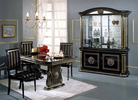 Italian Dining Room Furniture by Versace Style Italian High Gloss Dining Extending Table
