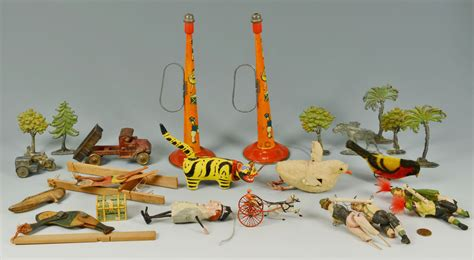 lot  group  early  mid  century toys