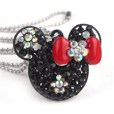Choikawadeco Mouse Brings Bling To Balls by New Fashion Necklace Minnie Mickey Mouse Necklace