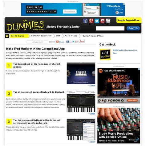 Garageband For Dummies Garage Band On For Dummies Website Http Www