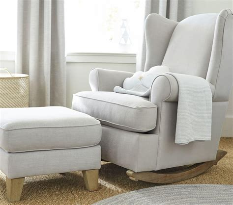 Wingback Rocker And Ottoman Nursery Rocking Chair Rocking Nursery Chair