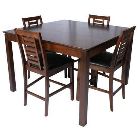 Pub Height Dining Tables Scottsdale Wood Pub Table Set With Bar Stools Family Leisure
