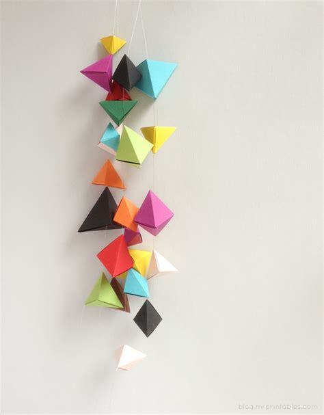 How To Make Origami Hanging Decorations - origami bipyramid tutorial what to do with them mr