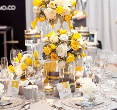 7 best images about Grey and Yellow Wedding Decor on