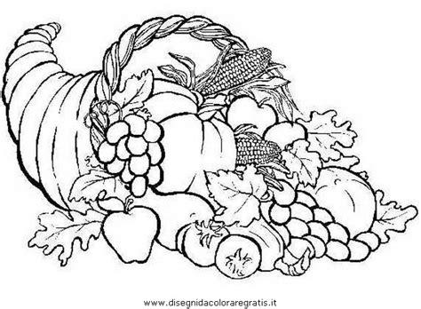 alimenti da colorare disegno cornucopia 1 alimenti da colorare