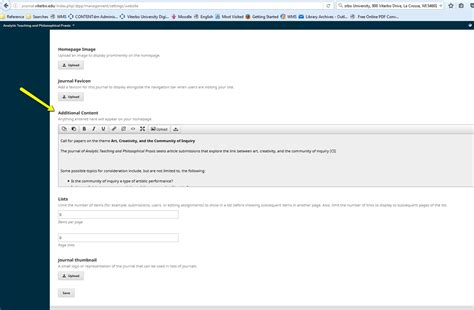 content section moving quot additonal content quot section above the table of