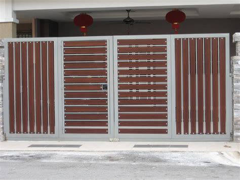Small House Gate Designs Fancy Wood And Metal Material Of Front Gate Designs For