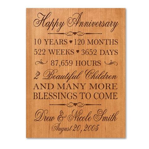 10th anniversary gifts for him personalized 10th anniversary gift for him tenth
