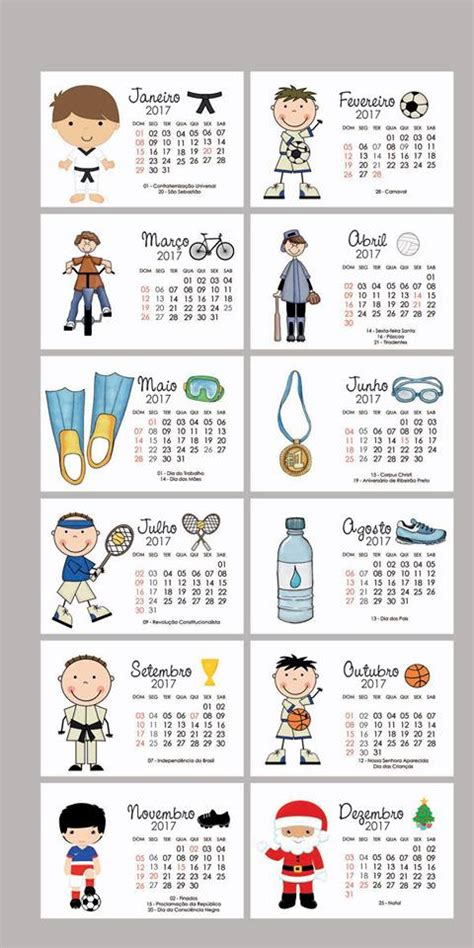 Calendario Anual Para Imprimir 2017 Calend 225 Rios 2017 Para Imprimir S 211 Escola