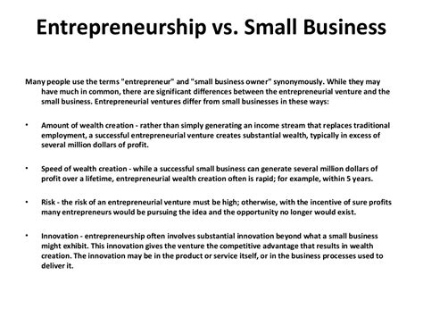 Entrepreneurship Lecture Notes For Mba by Entrepreneurship Lecture Notes Part 1