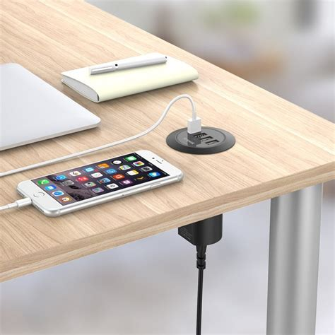 desk l with usb charging station simpeak