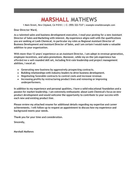 Leadership Trainer Cover Letter by Leading Professional Assistant Director Cover Letter Exles Resources Myperfectcoverletter