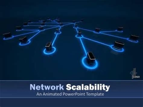 powerpoint themes networking network scalability a powerpoint template from