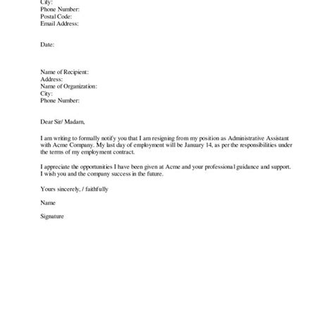 Proper Way To Write A Resignation Letter How To Write A Proper Resignation Letter Images Letter Of