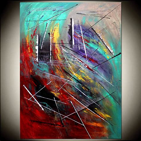 acrylic paint for large canvas large abstract painting giclee print abstract modern