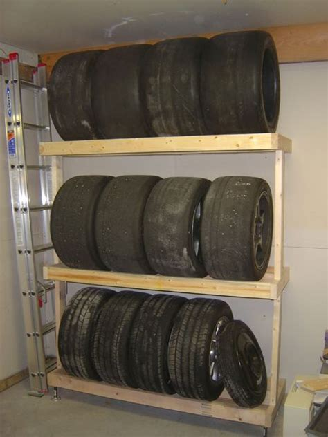 Tire Shelf by How To Build A Tire Rack
