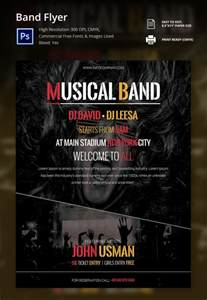 Band Flyer Templates by 16 Psd Band Flyer Templates Designs Free Premium