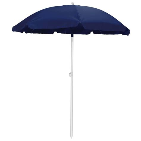 navy patio umbrella picnic time 5 5 ft patio umbrella in navy 822 00 138 000 0 the home depot