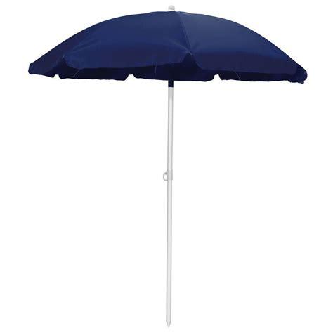 Picnic Time 5.5 ft. Beach Patio Umbrella in Navy 822 00