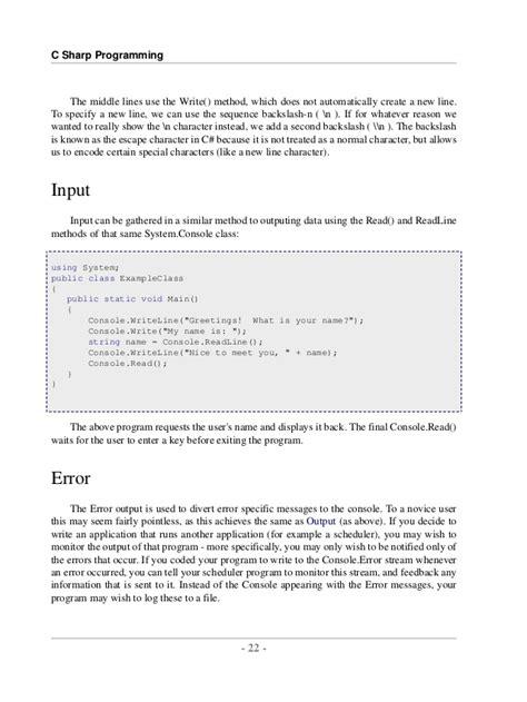 tutorial c programming pdf c sharp programming tutorial pdf free download