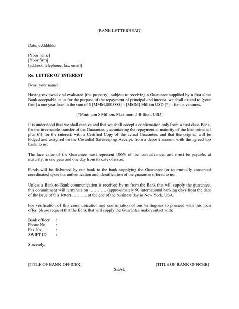 Business Letter Not Interested best photos of formal letter of interest sle business