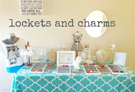Origami Owl Jewelry Bar Setup - a jewelry bar make and take origami owl lockets