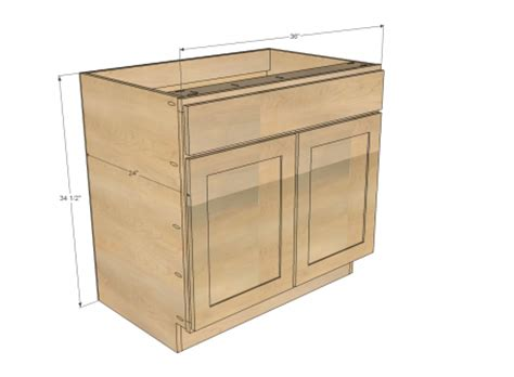 Building Kitchen Cabinets From Scratch by Ana White Build A 36 Quot Sink Base Kitchen Cabinet