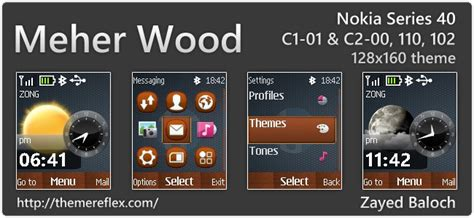 nokia 110 watch themes meher wood nokia 110 112 c1 01 c2 00 128 215 160