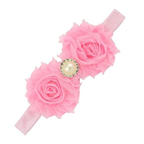 Headband Baby Flower Pink baby rhinestone flower headband headdress pink ebay