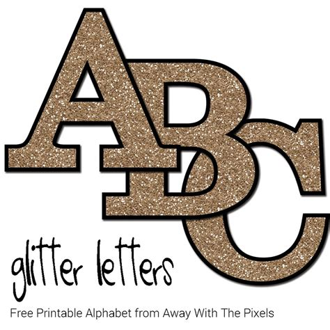 printable numbers letters free glitter alphabet to download and print