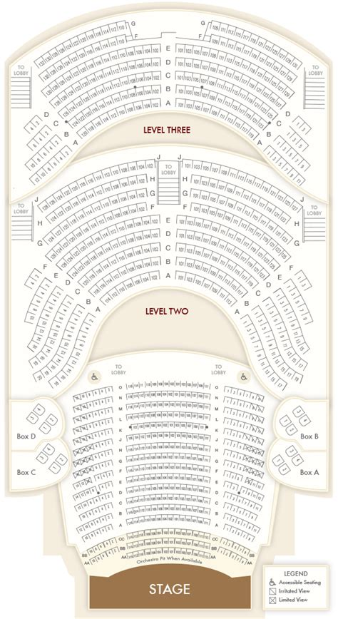 Opera House Seating Plan Opera House Seating Charts