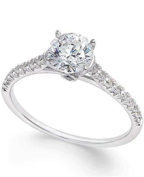 macy s engagement ring 1 ct t w in 14k white